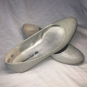 sparkly flats, women's size 8.5